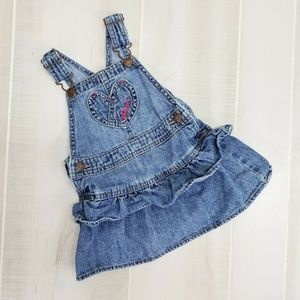 Oshkosh Denim Overalls Dress 18 M ~ ER19